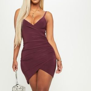 🔥 PLT Super Sexy Wrap Front Bodycon mini🔥